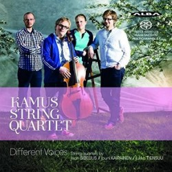 Kamus String Quartet - Different Voices - Sibelius - Kaipainen - Tiensuu